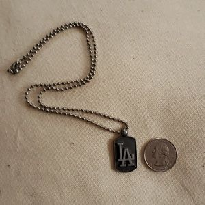 Other - LA Dodgers Small Dog Tag Necklace